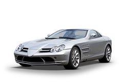 Mercedes de plata se divierte el sedán fotografía de archivo libre de regalías