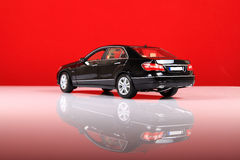 Mercedes e-class. Back view with red background Stock Photo