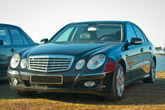 Mercedes E-Class w211. Black Mercedes E-Class w211 elegance 2008 royalty free stock images