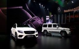 Mercedes encena nos carros de IAA Imagem de Stock