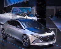 Mercedes EQA Concept, NAIAS. DETROIT, MI/USA - JANUARY 17, 2018: A Mercedes EQA Concept EV car at the North American International Auto Show NAIAS, one of the Royalty Free Stock Image