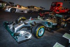 Mercedes F1 W01 för tävlings- bil för formel en bland, 2014 Arkivbild