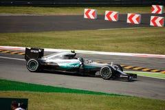 Mercedes Formula 1 in Monza door Nico Rosberg wordt gedreven dat Royalty-vrije Stock Fotografie
