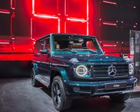 Mercedes G-grupp 2019 SUV, NAIAS Royaltyfria Foton