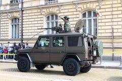 Mercedes G 270 militair op militaire hardwareparade Royalty-vrije Stock Afbeelding