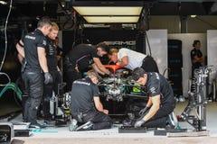 Mercedes garage, Monaco 2019