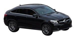 Mercedes-gl Klasse schwarz auf einem transparenten Hintergrund lizenzfreie stockfotos