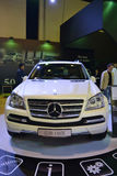 MERCEDES GL500. At Qatar Motor Show Second Exhibition on the 25th of January 2012 stock images