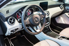 Mercedes GLA in the car showroom Royalty Free Stock Photo