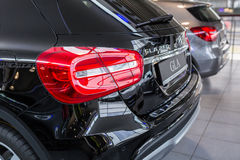 Mercedes GLA in the car showroom Stock Photos
