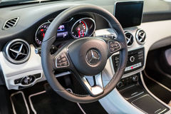 Mercedes GLA in the car showroom Royalty Free Stock Image