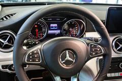 Mercedes GLA in the car showroom Royalty Free Stock Images