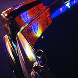 Mercedes ljus royaltyfria bilder