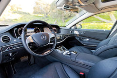 Mercedes-Maybach S 600 2015 interior Stock Photography