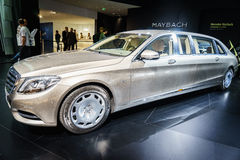 Mercedes-Maybach S600, Motorshow Geneve 2015 Stock Foto's