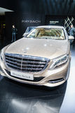 Mercedes-Maybach S600, Motorshow Geneve 2015 Royalty-vrije Stock Foto's