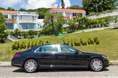 Mercedes-Maybach S 500 2015 Test Drive Day Stock Photo