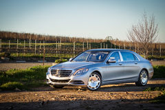 Mercedes-Maybach S 600 2015 Test Drive Royalty Free Stock Photos