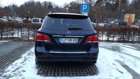 Mercedes ML63 AMG. Nice ML63 AMG V8 Biturbo Royalty Free Stock Photography