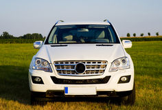 Mercedes ML from frontside Royalty Free Stock Photography