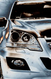 Mercedes ml, nieuwe koplampen SUV Royalty-vrije Stock Afbeelding