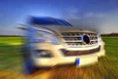 Mercedes ML speed stock photo