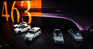 Mercedes mostra nos carros de IAA Imagem de Stock