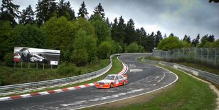 mercedes at the nordschleife Royalty Free Stock Image