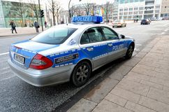 Mercedes police car in Hamburg, Germany Royalty Free Stock Photo