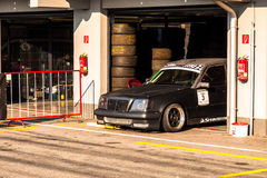 Mercedes race car in padock Stock Photography