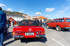 Mercedes 280 in red Royalty Free Stock Images