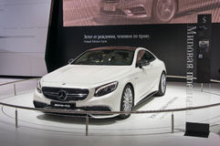 Mercedes S65 AMG Coupe. Moscow-September 2: World premiere of Mercedes S65 AMG Coupe at the Moscow International Automobile Salon on September 2, 2014 in Moscow Stock Photography