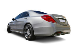 Luxury car. Mercedes S class Luxury Car back view with realistic shadows - includes separate clipping paths Stock Images
