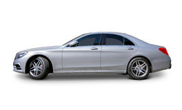 Luxury car. Mercedes S class Luxury Car side view with realistic shadows - includes separate clipping paths Royalty Free Stock Image