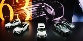 Mercedes show på IAA-bilarna Royaltyfri Fotografi