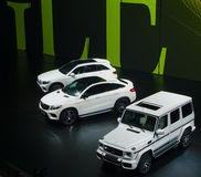 Mercedes show på IAA-bilarna Fotografering för Bildbyråer