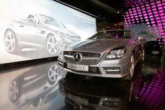 Mercedes in a showroom Stock Images