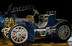 Mercedes Simplex, 1902. 1902 Mercedes-Simplex on display at Mercedes Benz Museum, Stuttgart, Germany. The Mercedes-Simplex, manufactured by Daimler-Motoren Royalty Free Stock Photo