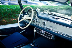 Mercedes SL 300 Gullwing interior Royalty Free Stock Photo