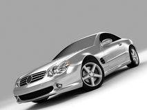 Mercedes SL 500. Realistic render three-dimensional model of the silvery Mercedes SL 500 Stock Photography