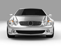 Mercedes SL 500. Realistic render three-dimensional model of the silvery Mercedes SL 500 Royalty Free Stock Photography