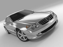 Mercedes SL 500. Realistic render three-dimensional model of the silvery Mercedes SL 500 Royalty Free Stock Image