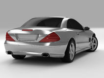 Mercedes SL 500. Realistic render three-dimensional model of the silvery Mercedes SL 500 Royalty Free Stock Images