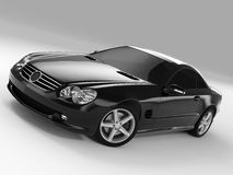 Mercedes SL 500. Realistic render three-dimensional model of the black Mercedes SL 500 Royalty Free Stock Photo