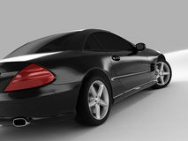 Mercedes SL 500. Realistic render three-dimensional model of the black Mercedes SL 500 Stock Photos