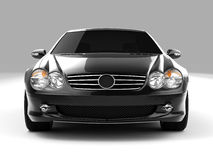 Mercedes SL 500. Realistic render three-dimensional model of the black Mercedes SL 500 Royalty Free Stock Images
