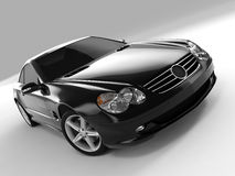 Mercedes SL 500. Realistic render three-dimensional model of the black Mercedes SL 500 Stock Photography