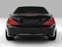 Mercedes SL 500. Realistic render three-dimensional model of the black Mercedes SL 500 Stock Photo