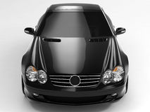 Mercedes SL 500. Realistic render three-dimensional model of the black Mercedes SL 500 Royalty Free Stock Photos
