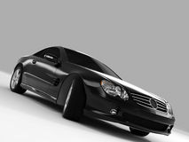 Mercedes SL 500. Realistic render three-dimensional model of the black Mercedes SL 500 Stock Images